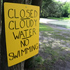 Gillian Jones/North Adams Transcript<br /> <br /> Margaret Lindley Park in Williamstown is closed because of cloudy water associated with the storm.