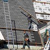 BEN GARVER — THE BERKSHIRE EAGLE<br /> A crew from C.B and Sons Roofing of Dalton works on Zion Lutheran Church in Pittsfield, taking advantage of the sun before the snow falls, Saturday, November 30, 2019.