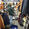 BEN GARVER — THE BERKSHIRE EAGLE<br /> Clayton Gomes purchases some snow shovels and winter gear to help out his neighbors in the coming storm at Carr Hardware in Pittsfield, Saturday, November 30, 2019.