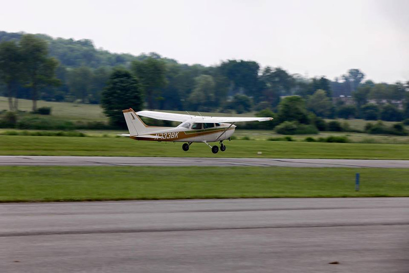 """PHOTO PROVIDED / COURTESY TIM LANIGAN Yung Hsu Chien made his debut solo flight on Friday, June 3 at the Wadsworth Municipal Airport using a Cessna 172. He said he tries to make every landing """"a great one."""""""