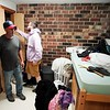 BEN GARVER — THE BERKSHIRE EAGLE<br /> Senior Devin DeLuca and his father Joe DeLuca take a first look into his room in the Townhouses at the Massachusetts College of Liberal Arts in North Adams, Monday, September 2, 2019.