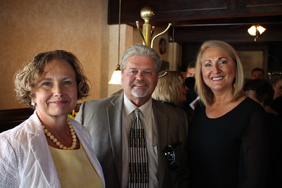LAWRENCE PANTAGES / GAZETTE Medina County officials Joyce V. Kimbler, S. Forrest Thompson and Veronica Perry attend the opening of Robby's, a drug abuse recovery center, on Monday at the former Medina Steak & Seafood restaurant. Kimbler is Medina County Common Pleas Court Judge; Thompson is county prosecutor, and Perry is the court's chief probation officer. The recovery center was created through a $300,000 grant from the state of Ohio obtained by Perry.