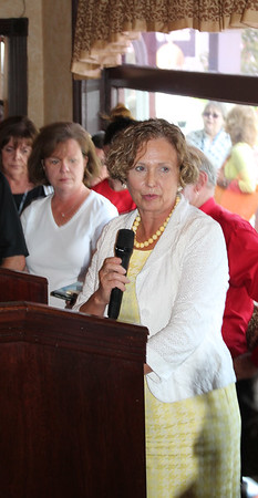 LAWRENCE PANTAGES / GAZETTE Medina County Common Pleas Court Judge Joyce V. Kimbler speaks Monday during the opening of Robby's, a drug abuse recovery center in the former Medina Steak & Seafood restaurant.