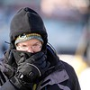 BEN GARVER — THE BERKSHIRE EAGLE<br /> Bob Harrison warms his face while walking in Pittsfield, Thursday, January 31, 2019.