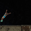 KRISTOPHER RADDER — BRATTLEBORO REFORMER<br /> Kayli Fitzpatrick, 9, from Wardsboro, jumps off a dock into the Harriman Reservoir during a warm summer day on Tuesday, July 9, 2019.