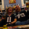 KRISTOPHER RADDER - BRATTLEBORO REFORMER <br /> Barbara and Walter Bunszel, of Westmoreland, wear their Patriot jerseys as they watch the news on Tuesday, Jan. 30, 2018, about their team heading into Super LII.