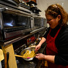 KRISTOPHER RADDER - BRATTLEBORO REFORMER<br /> Dara Levy, the owner of Sweet Miri's Cafe, prepares a gluten-free snickerdoodle cookie at her new location on 55 Elliot Street, in Brattleboro, on Tuesday, April 3, 2018.