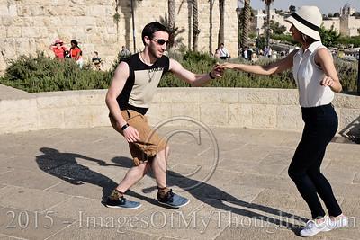 'Swing' Dance Street Party in Jerusalem, Israel