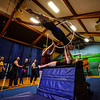 KRISTOPHER RADDER - BRATTLEBORO REFORMER<br /> Students that participated in the high school program for the New England Center for Circus Arts run through their graduation program at the Winston Prouty gymnasium on Friday, June 1, 2018. People can see the graduation show at 7 p.m. tonight.