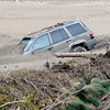 A vehicle buried by the flood is seen October 14, 2013 in Glen Haven. (Photo by Jenny Sparks/Loveland Reporter-Herald)