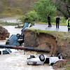 Bridge Out Car in Creek from Rain63  Bridge Out Car in Creek fro
