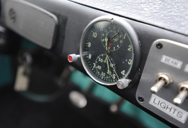 20120107_TRABANT_CARS_5.jpg To help make it a rally-style car Charlie Bigsby put a two-day clock, from a Russian helicopter, into his 1966 Trabant. Over 3,000,000 of the East German cars were built beginning in 1957 and ending in 1991. Photo taken Saturday Jan. 07, 2012.  (Lewis Geyer/Times-Call)