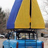 20120107_TRABANT_CARS_11.jpg The tent on John Short's 1972 Trabant. Over 3,000,000 of the East German cars were built beginning in 1957 and ending in 1991. Photo taken Saturday Jan. 07, 2012.  (Lewis Geyer/Times-Call)