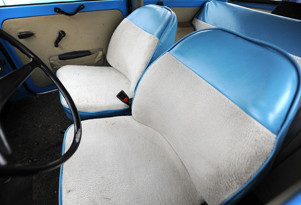 20120107_TRABANT_CARS_10.jpg The interior of John Short's 1972 Trabant. Over 3,000,000 of the East German cars were built beginning in 1957, ending in 1991. Photo taken Saturday Jan. 07, 2012.  (Lewis Geyer/Times-Call)