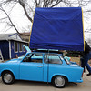 20120107_TRABANT_CARS_6.jpg Longmont resident John Short demonstrates the camping tent he installed on his 1972 Trabant. Over 3,000,000 of the East German cars were built beginning in 1957 and ending in 1991. Photo taken Saturday Jan. 07, 2012.  (Lewis Geyer/Times-Call)