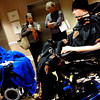 20111212-TylerHoog21.jpg.jpg Tyler Hoog raises the seat on his powered wheelchair as he shows off the chair's abilities to his friend Jay Ruckelshaus while their parents talk at the Shepherd Spinal Center in Atlanta, GA on Monday, December 12, 2011. Hoog has been paralyzed from the neck down after a four wheeling accident in August.   (Jonathan Phillips Special to the Boulder Daily Camera)