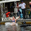 KRISTOPHER RADDER - BRATTLEBORO REFORMER<br /> Roughly 30 people jumped into the waters of the West River during the 13th annual Polar Plunge at the Marina on Sunday, May 6, 2018. The money for the event will help out the Community House.