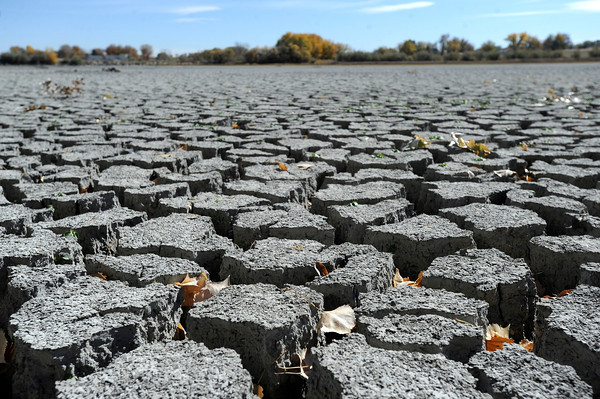 Hardened mud on Tuesday, Oct. 23, at Teller Lake 5 in Boulder.<br />  Jeremy Papasso/ Camera