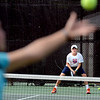 "Jackson Hawk waits for a serve from Glenna Gee-Taylor during Rocky Mountain Tennis Camp.<br /> Tennis students workout at the Rocky Mountain Tennis Camp in Boulder.<br /> For more photos of the tennis camps, go to  <a href=""http://www.dailycamera.com"">http://www.dailycamera.com</a><br /> Cliff Grassmick / June 3, 2012"