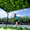 "Glenna Gee-Taylor, who plays tennis for Centaurus High, hits some balls for a session during Rocky Mountain Tennis Camp.<br /> Tennis students workout at the Rocky Mountain Tennis Camp in Boulder.<br /> For more photos of the tennis camps, go to  <a href=""http://www.dailycamera.com"">http://www.dailycamera.com</a><br /> Cliff Grassmick / June 3, 2012"