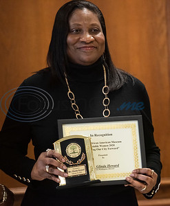 Honoree Glinda Howard is recognized at the Texas African American Museum (TAAM) 2020 Notable African American Women program at the Rose Garden Center in Tyler on Tuesday, Feb. 18, 2020. Texas African American Museum is located in Tyler at 3000 N. Border Ave.   (Sarah A. Miller/Tyler Morning Telegraph)