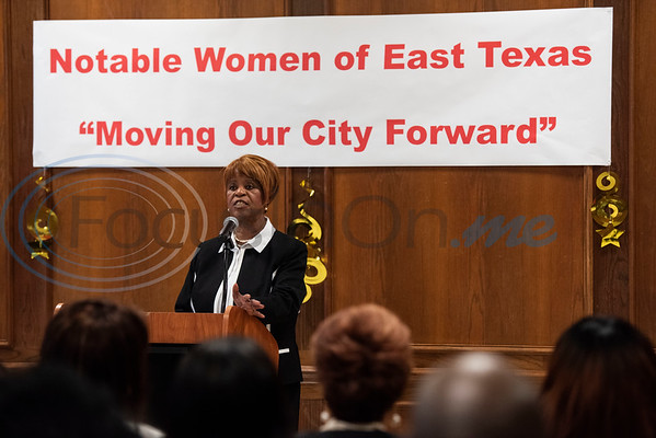 Gloria Washington, Executive Director of the Texas African American Museum (TAAM), emcees the TAAM 2020 Notable African American Women honoree presentation at the Rose Garden Center in Tyler on Tuesday, Feb. 18, 2020. Texas African American Museum is located in Tyler at 3000 N. Border Ave.  (Sarah A. Miller/Tyler Morning Telegraph)