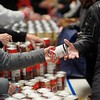 BEN GARVER — THE BERKSHIRE EAGLE<br /> Volunteers for the Thanksgiving Angels distribute about 1400 Thanksgiving meals to families in need, Monday, November 25, 2019. 380 volunteers are needed to distribute the food and deliver it to people who cannot make the trip.