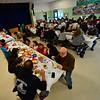 KRISTOPHER RADDER — BRATTLEBORO REFORMER<br /> Family join together for the annual Thanksgiving luncheon at Vernon Elementary School on Thursday, Nov. 15, 2018.