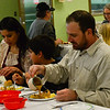 KRISTOPHER RADDER — BRATTLEBORO REFORMER<br /> Family join together for the annual Thanksgiving luncheon at Vernon Elementary School on Thursday, Nov. 15, 2018.