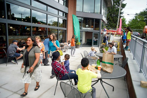 BEN GARVER — THE BERKSHIRE EAGLE<br /> The Berkshire Food Co-op has moved to Powerhouse Square next to its former location and is bustling with activity, Wednesday, June 19, 2019.