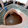"Terry Phillips walks up the spiral staircase  of the Boulder Public Library on Saturday.<br /> For more photos of the library, go to  <a href=""http://www.dailycamera.com"">http://www.dailycamera.com</a>.<br /> Cliff Grassmick / April 21, 2012"