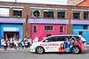 The community of the Boys and Girls Club of Brattleboro watches while their new, gifted van from the Boys and Girls Club of America is delivered to their door; KELLY FLETCHER, REFORMER CORRESPONDENT