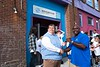 Ricky Davidson, Executive Director of the Boys and Girls Club of Brattleboro, receives the keys to their new van from Jason Woods of the Boys and Girls Club of America; KELLY FLETCHER, REFORMER CORRESPONDENT