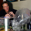 Carl Hedberg, of Lafayette, cleans parts to a vaporizer while others consume marijuana with a vaporizer on Friday, Feb. 1, at The Front Tea & Art Shop in Lafayette.<br /> Jeremy Papasso/ Camera