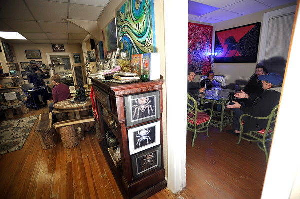 People hang out and consume marijuana together on Friday, Feb. 1, at The Front Tea & Art Shop in Lafayette.<br /> Jeremy Papasso/ Camera