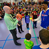 KRISTOPHER RADDER — BRATTLEBORO REFORMER<br /> Members of the Harlem Rockets visit local schools on Friday, March 15, 2019.