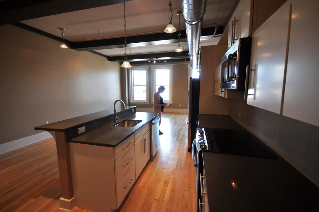 . One of the apartments in The Howard: High-End Retail and Residential which had an open house on Sunday, June, 15, 2014. Gillian Jones / Berkshire Eagle Staff / photos.berkshireeagle.com