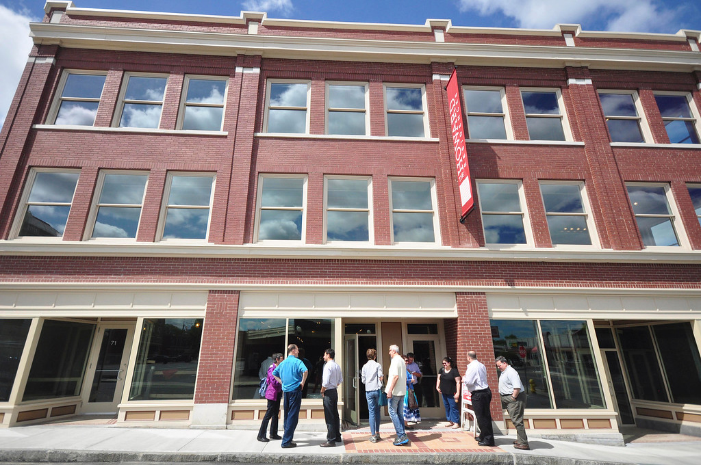 . The entrance to The Howard: High-End Retail and Residential on Federal Street during an open house on Sunday, June, 15, 2014. Gillian Jones / Berkshire Eagle Staff / photos.berkshireeagle.com