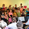 KRISTOPHER RADDER - BRATTLEBORO REFORMER<br /> The Oak Grove Intergenerational Chorus performed in front of a small crowd during a concert for the Brown Bag Lunch Series at the River Garden on Wednesday, May 23, 2018.