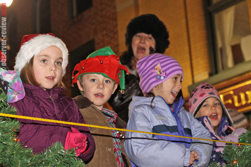 The Penn Yan elementary chorus sings holiday songs on the main stage during Penn Yan's 29th annual StarShine event Friday, Dec. 6.