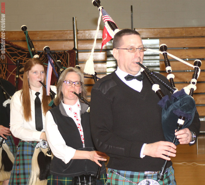Our Town RoCks held the first Highlander Ball at the Dundee school gymnasium Saturday, March 22. The Caledonian Highlanders Pipes and Drums came from Big Flats to play at the event, who were followed with a performance by the Rochester Scottish Country Dancers later on during the night.