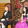 Highlander Scot Jeff Koehler and Lady Scot Jessica Vazquez watch on from their thrones during the pipes performance at Saturday's Ball. The proceeds from the ball, sponsored by Our Town RoCKS, go to benefit the Highlander and Lady Scot program.