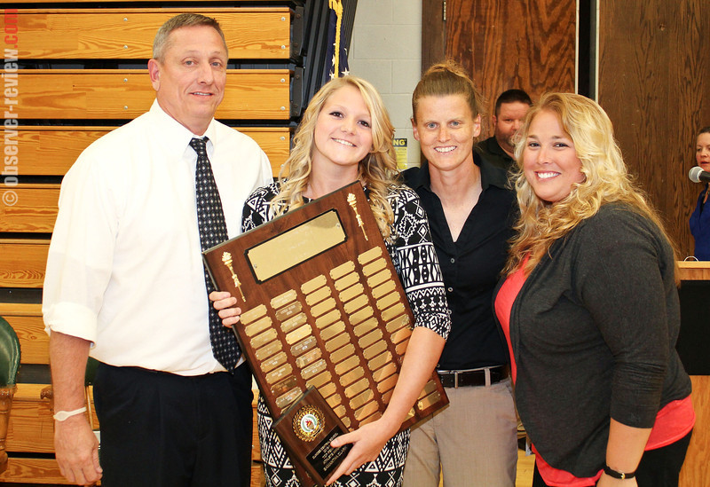 The Dundee Female Athlete Award was presented to Samantha Clark.