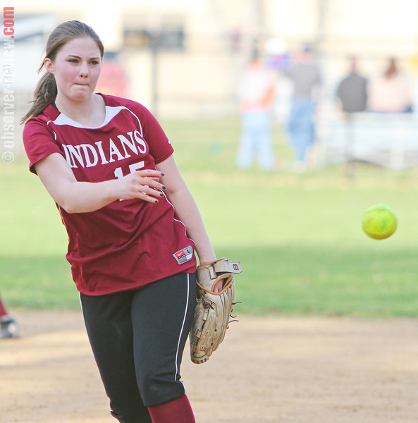 Brianna Struble delivers a pitch for Odessa in the game, Monday, April 21.