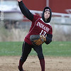 Ashley Kot fields a ground ball and throws to first, Wednesday, April 23.