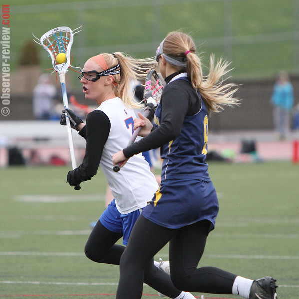 Peyton Pallar drives to the net for Penn Yan during the Wednesday, April 30 contest against Marcus Whitman.