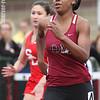 Dana Roberts runs the 100 meter dash for Odessa, Friday, May 2.
