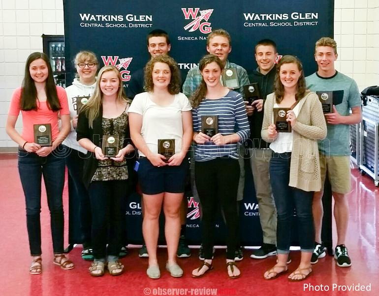 Watkins Glen MVP award winners for the 2015 spring sports season.