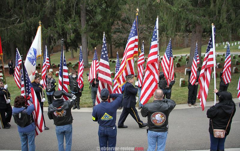 Wreaths Across America at Bath National Cemetery, 12-12-15.