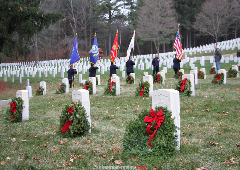 Wreaths Across America at Bath National Cemetery, 12-12-15.